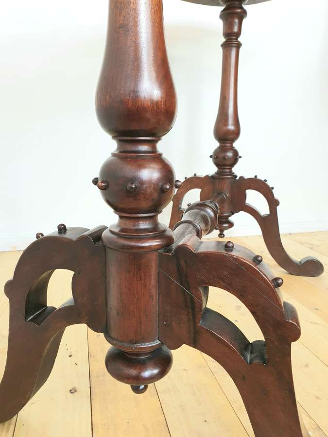 Victorian Gothic Revival Mahogany Table