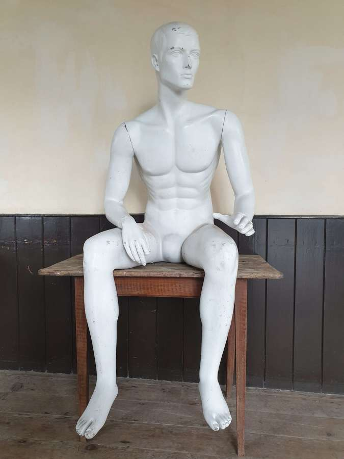 Vintage Male Shop Fitters Nude Mannequin