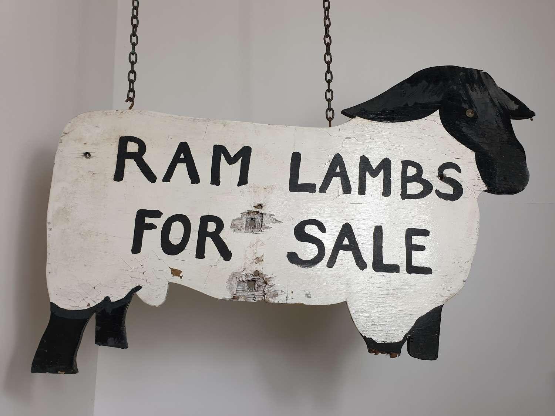 Rare Double Sided Folk Art Wooden Farm Sign