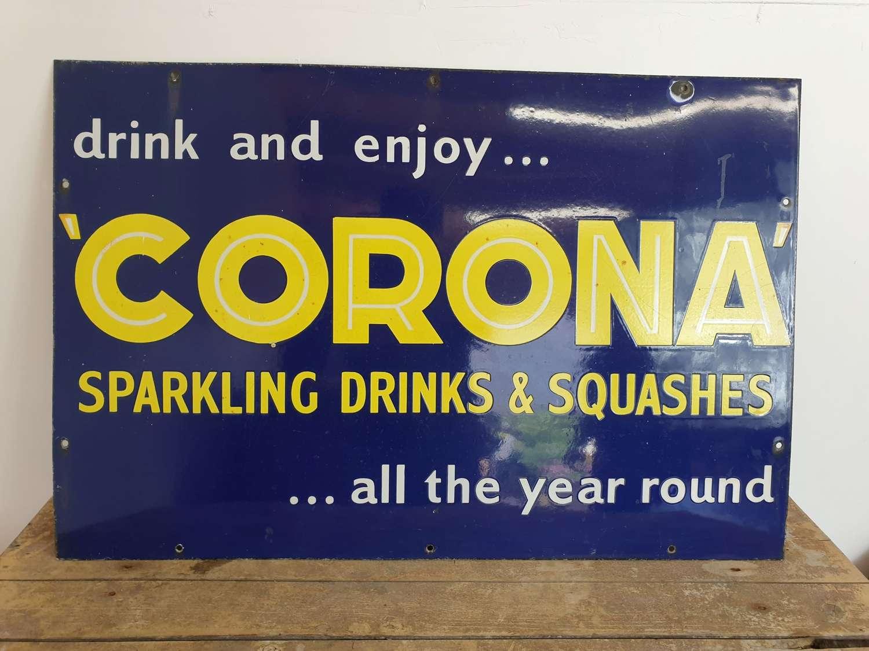 Corona Sparkling Drinks Enamel Sign