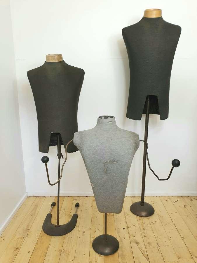Three Vintage Antique Shop Fitters Mannequins