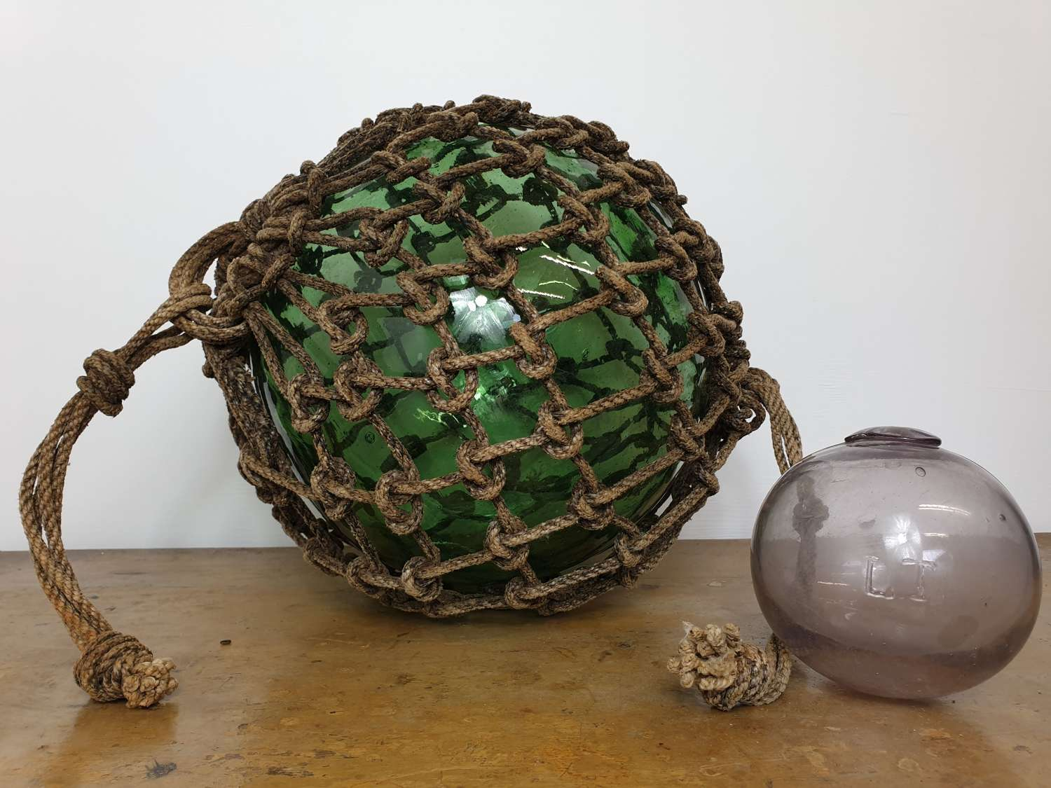 Rare Sized Large Green Glass Fishing Float