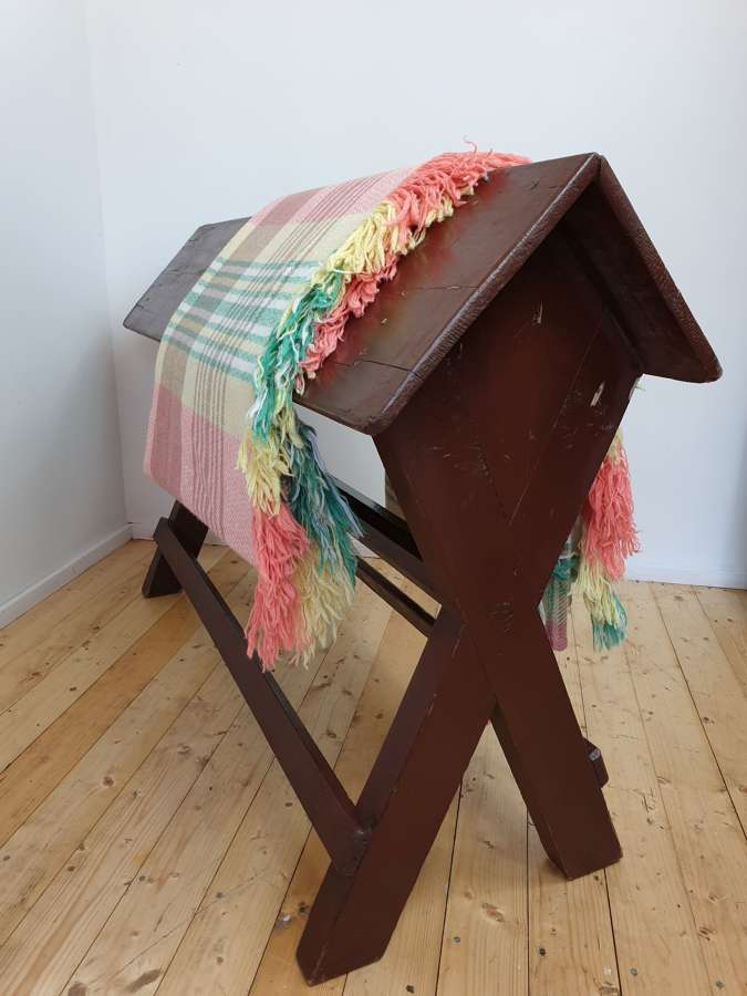 Estate Made Welsh Painted Pine Saddle Horse