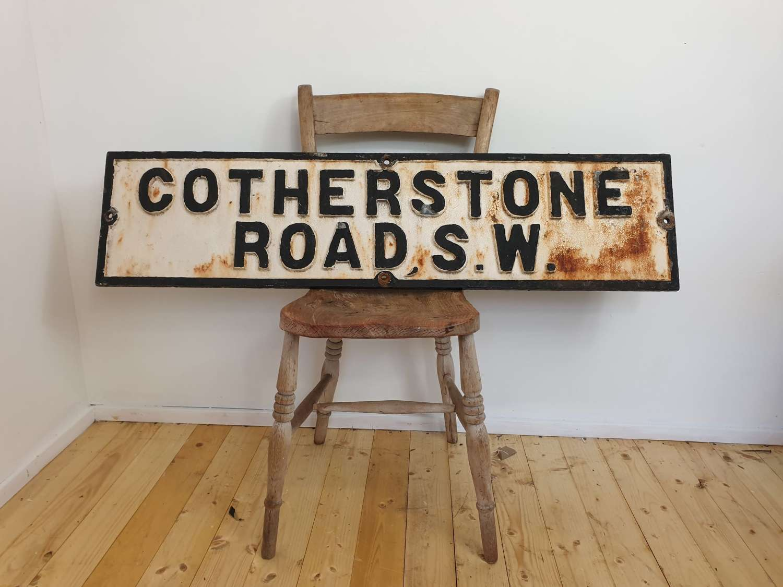London Cast Iron Street Sign