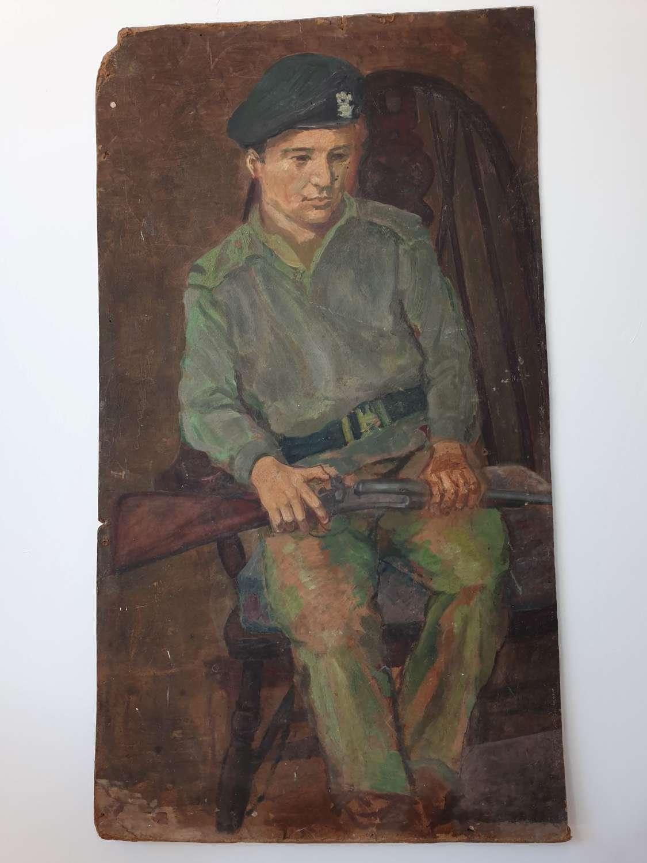 Soldier Boy Oil on Board