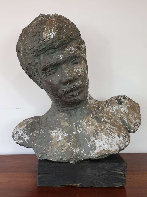 Mid Century Plaster Male Bust