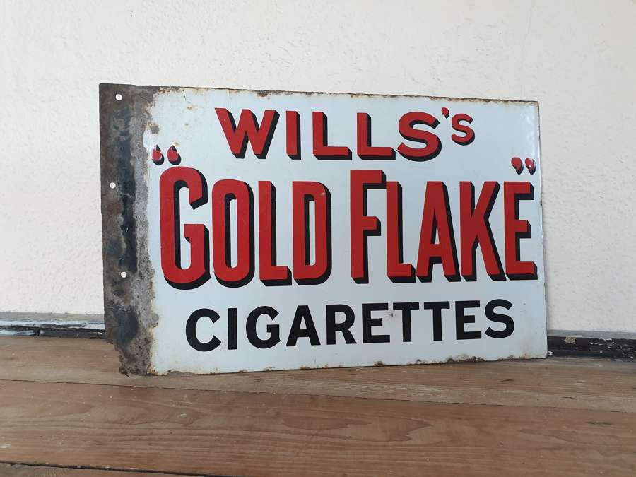 Wills's Goldflake Cigarette Enamel Sign