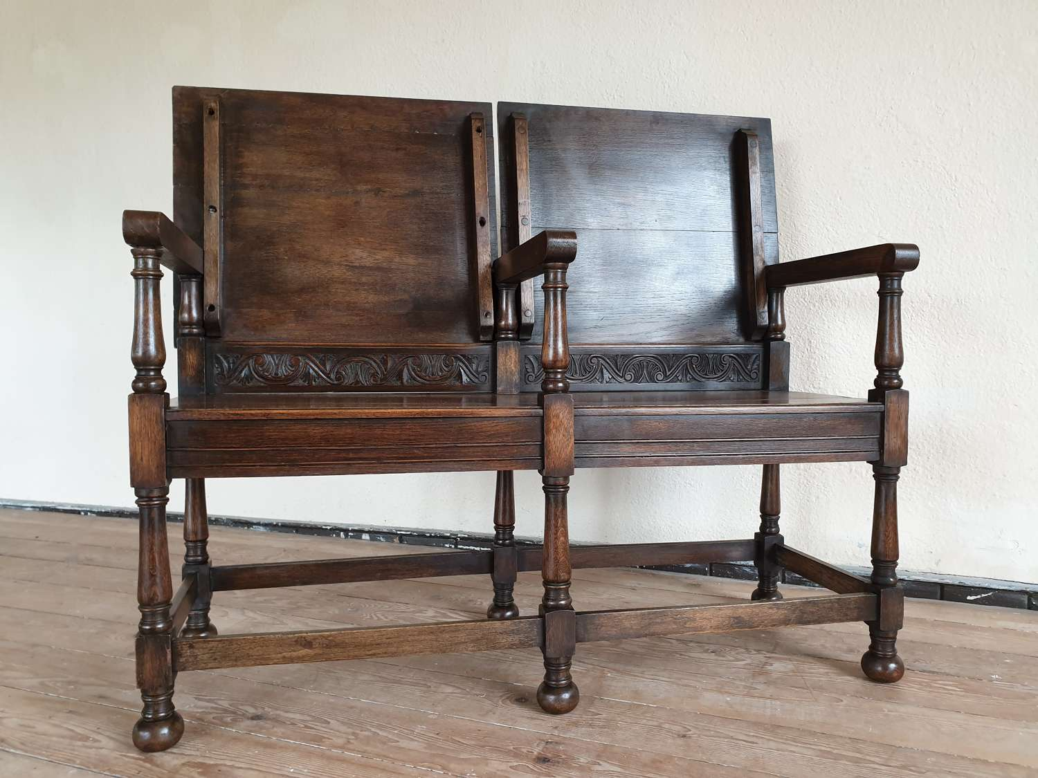 Double Seated Second World War Italian Pow Monks Bench