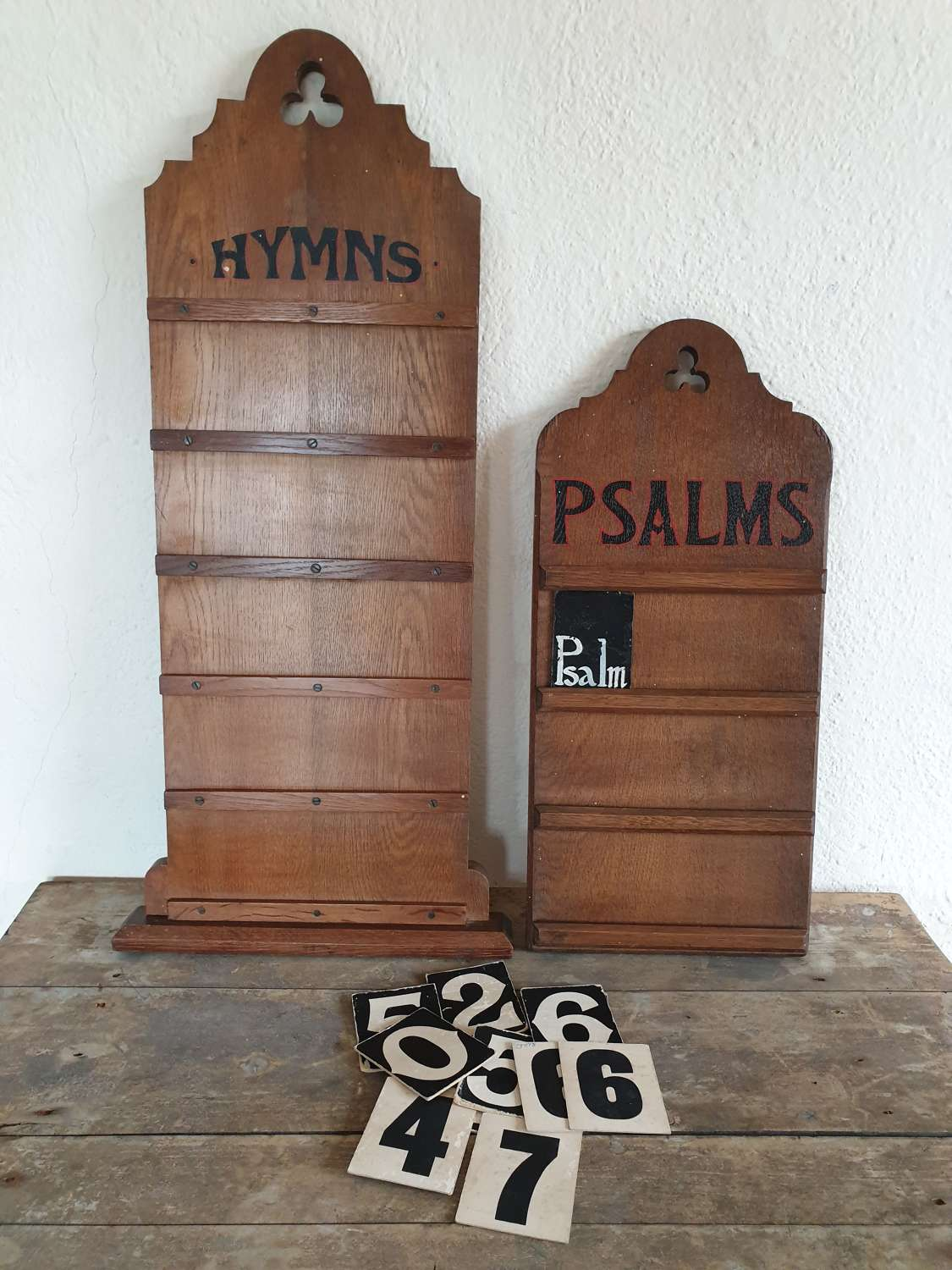 Pair Of Victorian Hymn/Psalm Boards