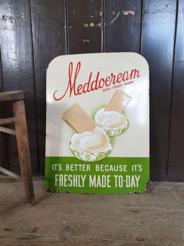 Meddowcream ice cream enamel sign