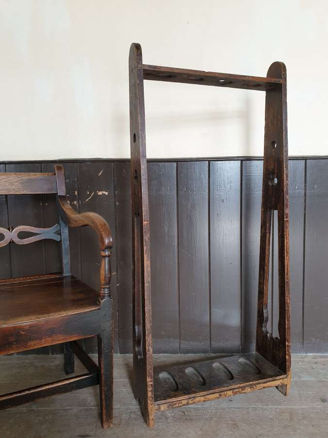 19th Century Pine Lodge Gun Rack