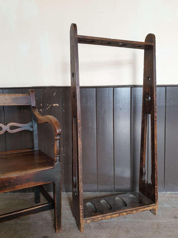 19th Century Pine Lodge Gun Rack