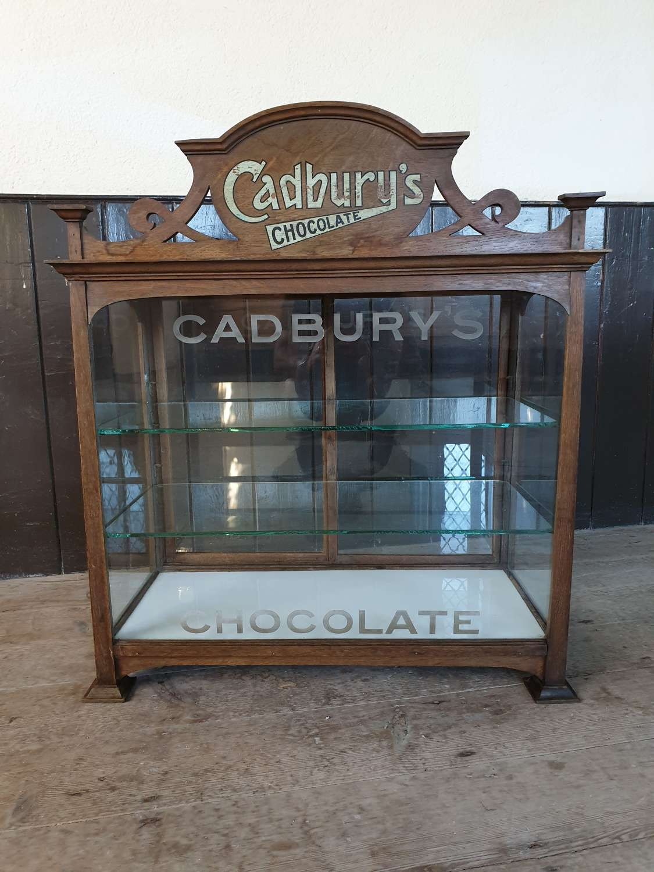 Exceptional Art Noveau Cadburys Glass Shop DisplayCabinet