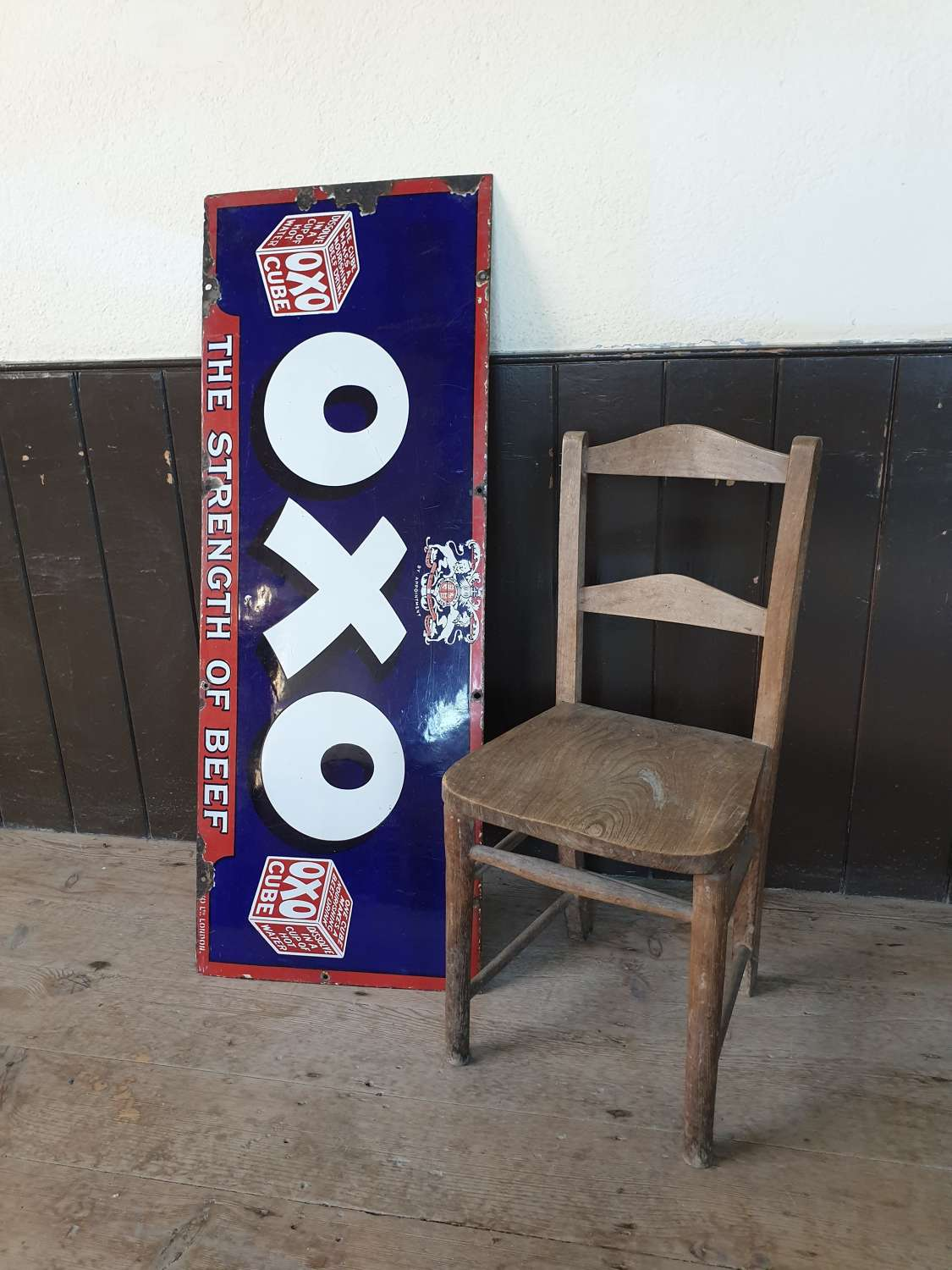 OXO Enamel Advertising Sign