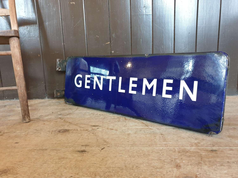 British Railways Gentlemen Enamel Sign