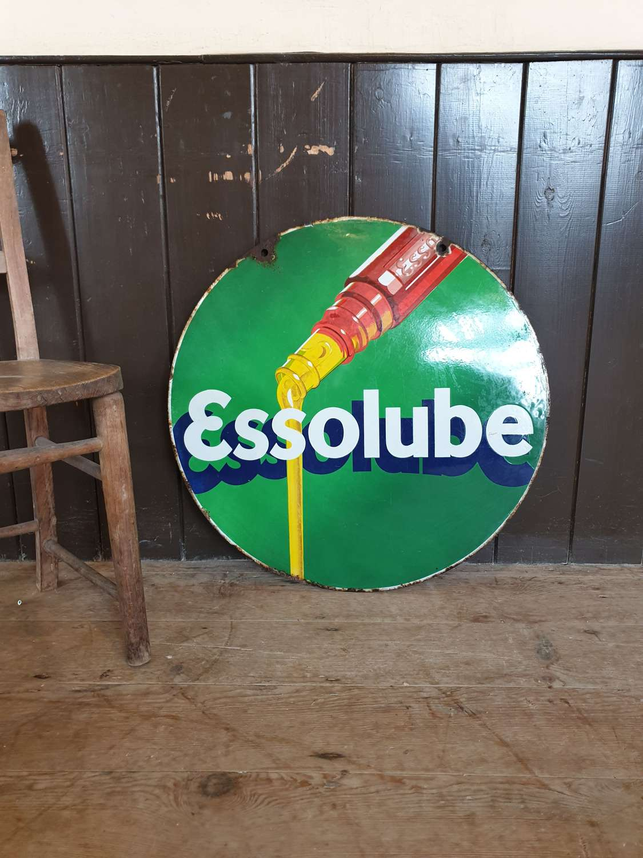 Essolube Enamel Sign