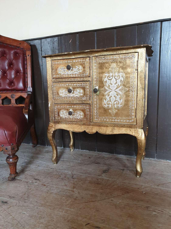Mid Century Florentine Gilt Cabinet