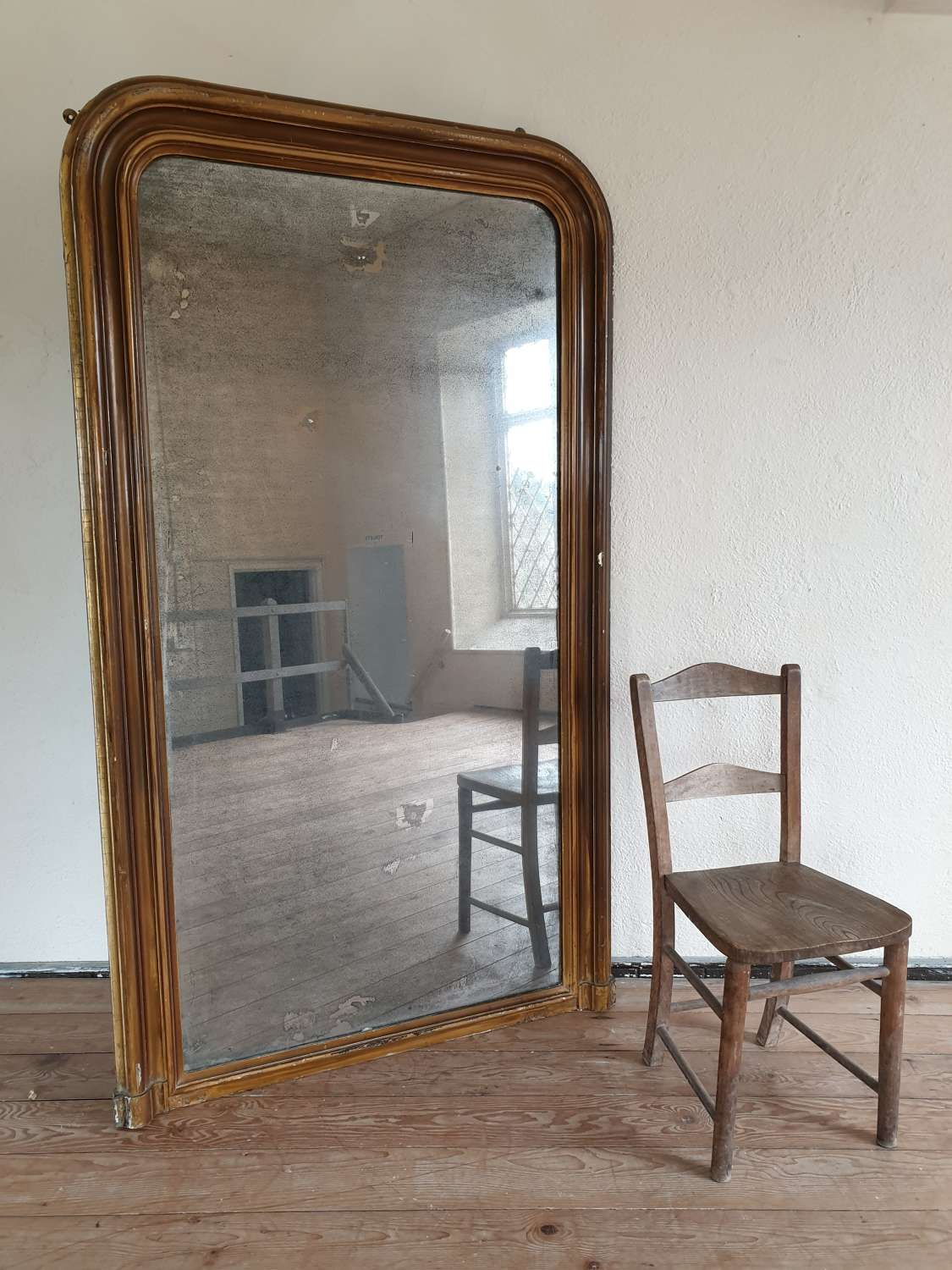 Large 6ft English 19th Century Mirror