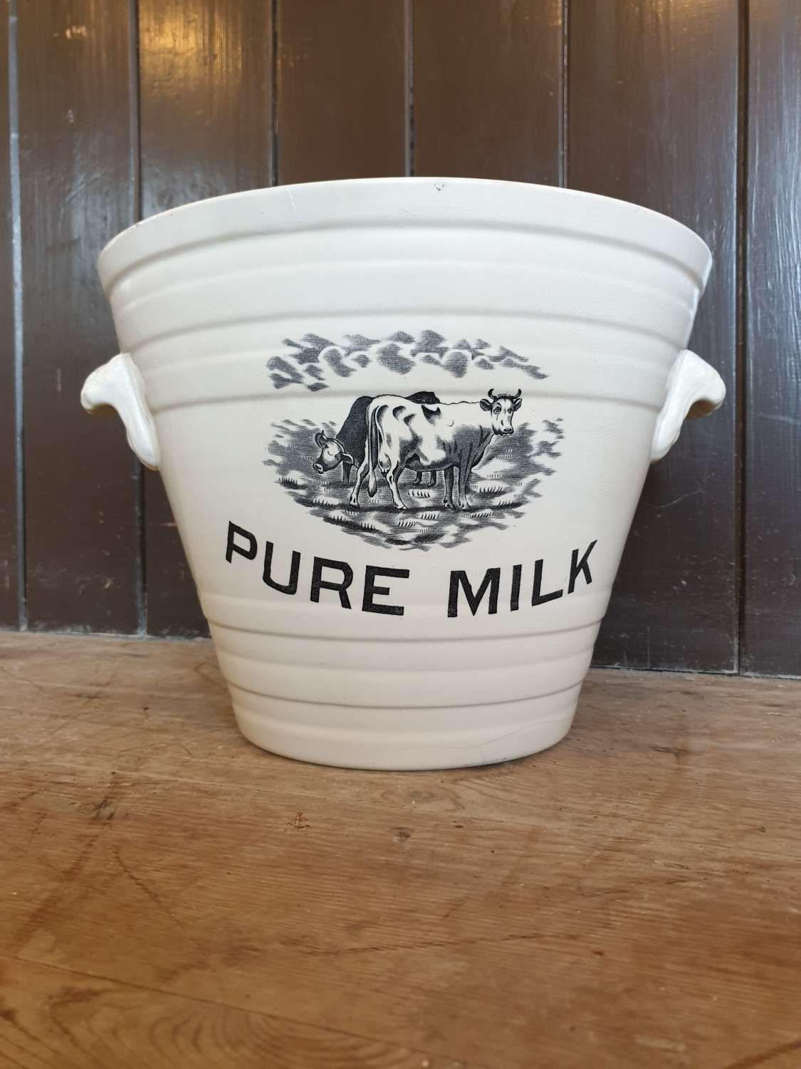 Pure Milk Ironstone pail