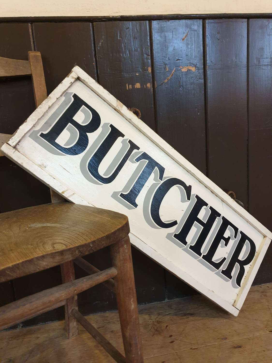 Wooden Butchers Sign