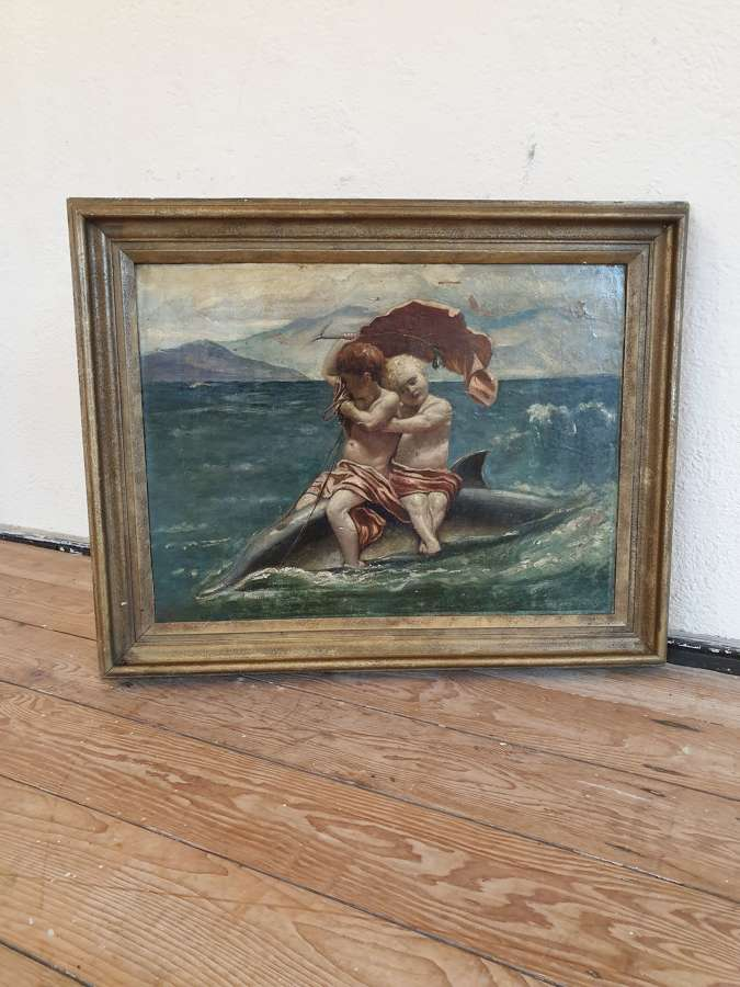 Classical Italian Oil On Canvas