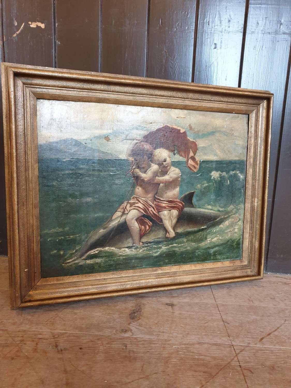 Classical Italian Oil On Canvas