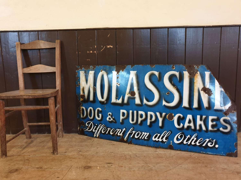 Molassine Puppy Food Enamel Sign