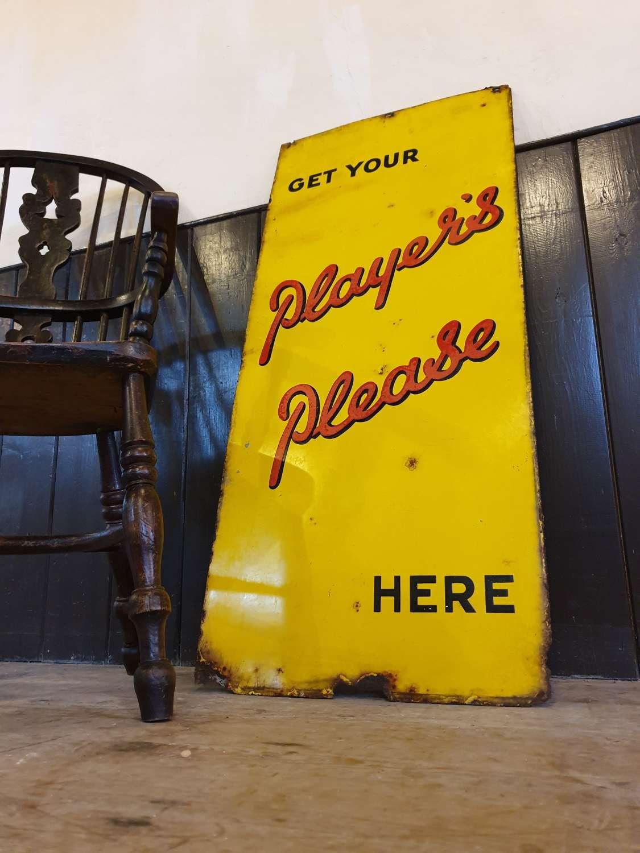 Players Cigarettes Enamel Sign