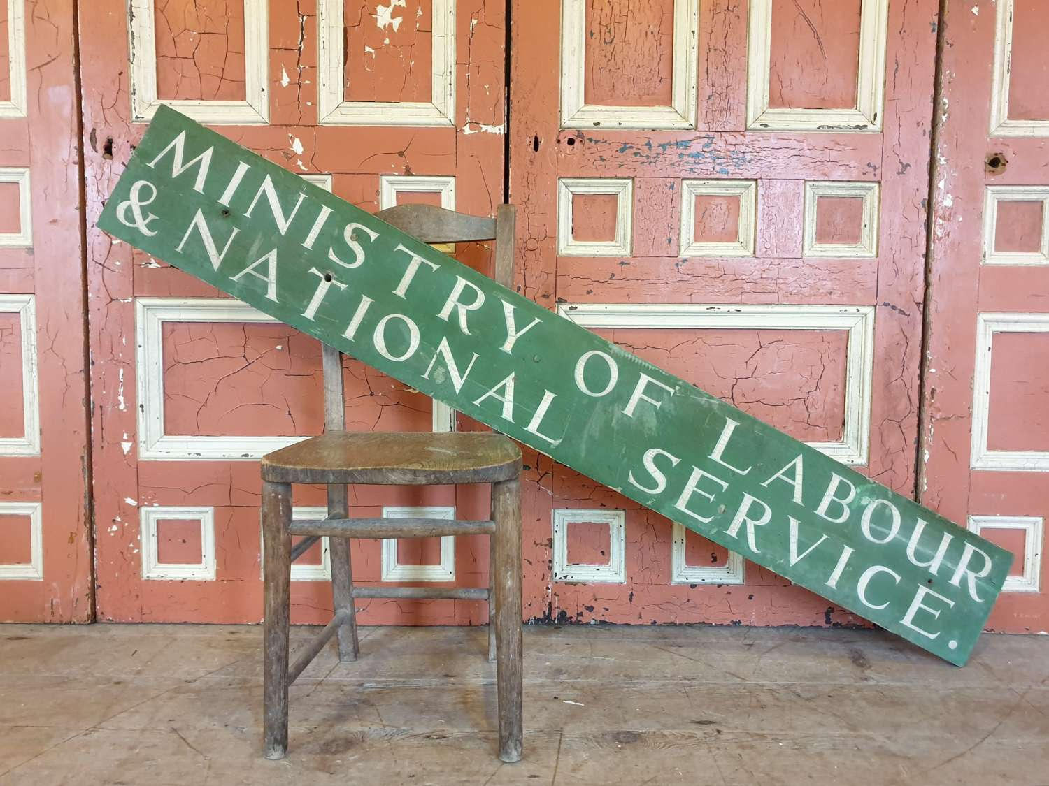 Ministry of Labour and National Service Wooden Sign