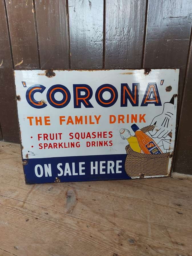 Corona Sparkling Drinks Enamel Sign