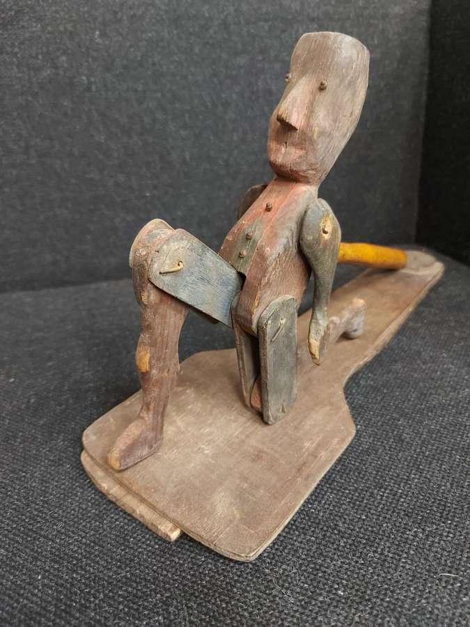 19th Century Wooden Dancing Limberjack jig