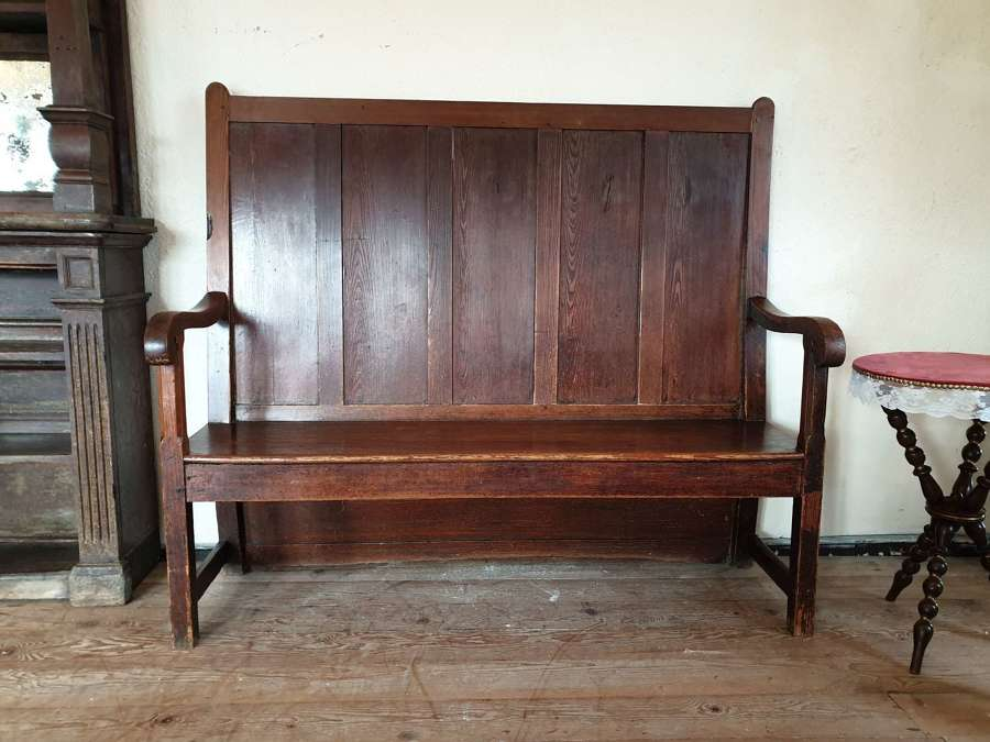 Welsh Pine High Back Settle