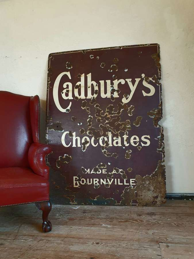 Cadburys Chocolate Enamel Sign