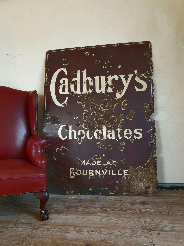 Cadburys Chocolate Enamel Sign