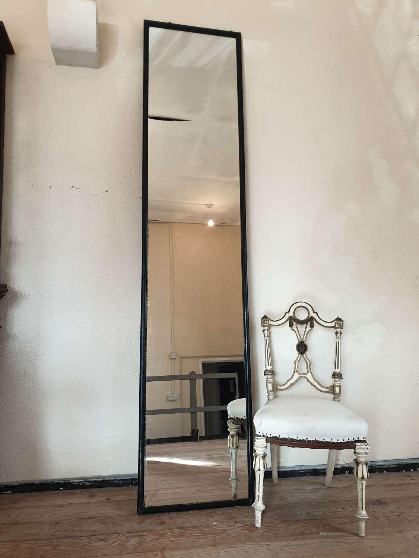 Large Ebonised Haberdashery Mirror
