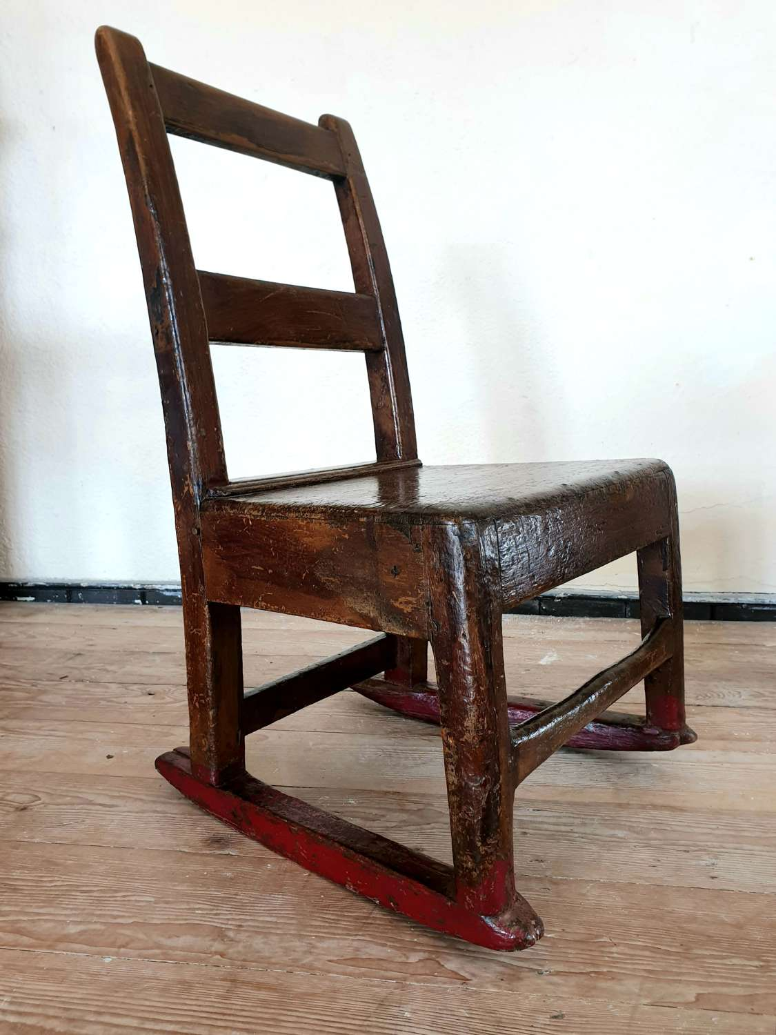 Welsh Vernacular Painted Child's Rocking Chair