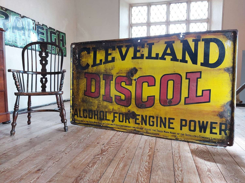 Rare Large Cleveland Driscol Petrol Enamel Sign