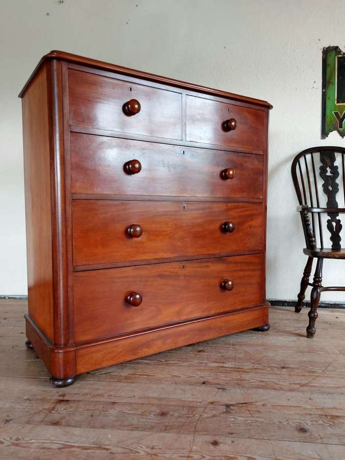 Large Montgomery Mahogany Chest of Drawers
