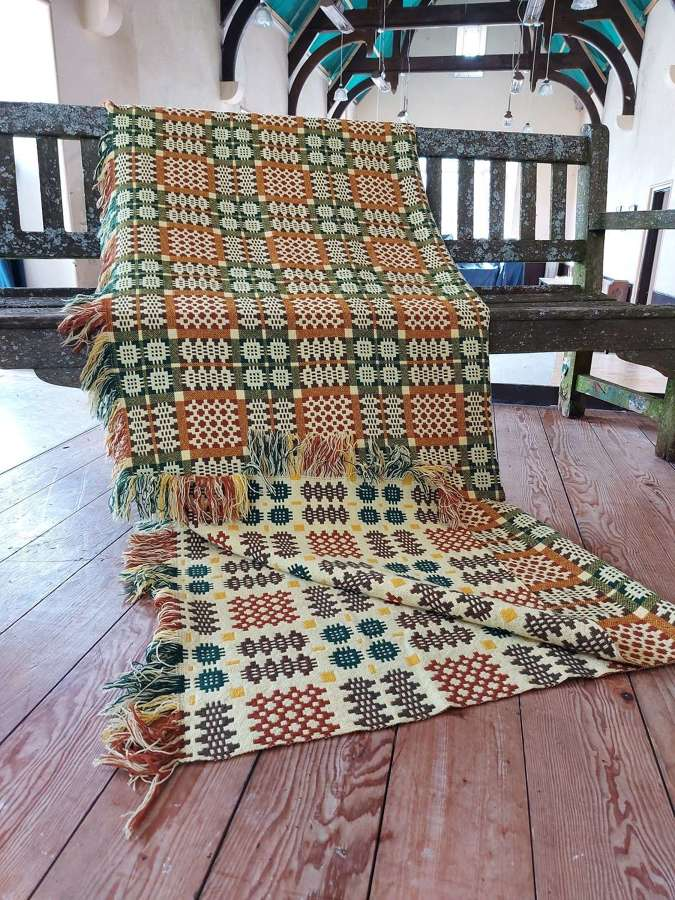 Welsh Tapestry Woolen Blanket