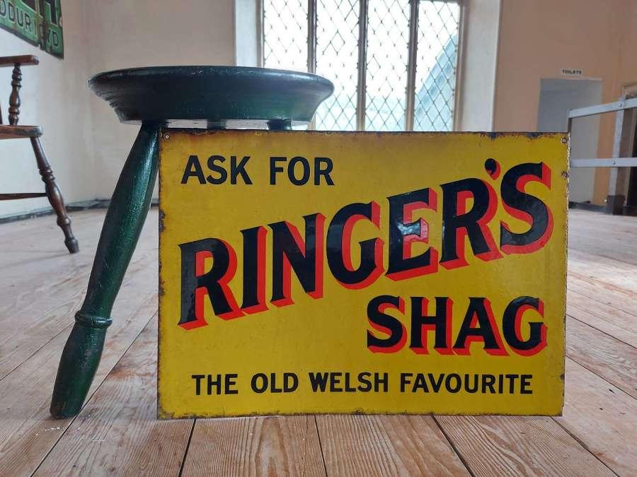 Ringers Shag Enamel Sign