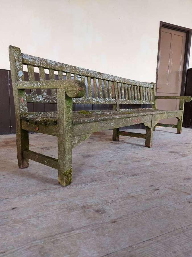 Large Vintage Teak Park Bench