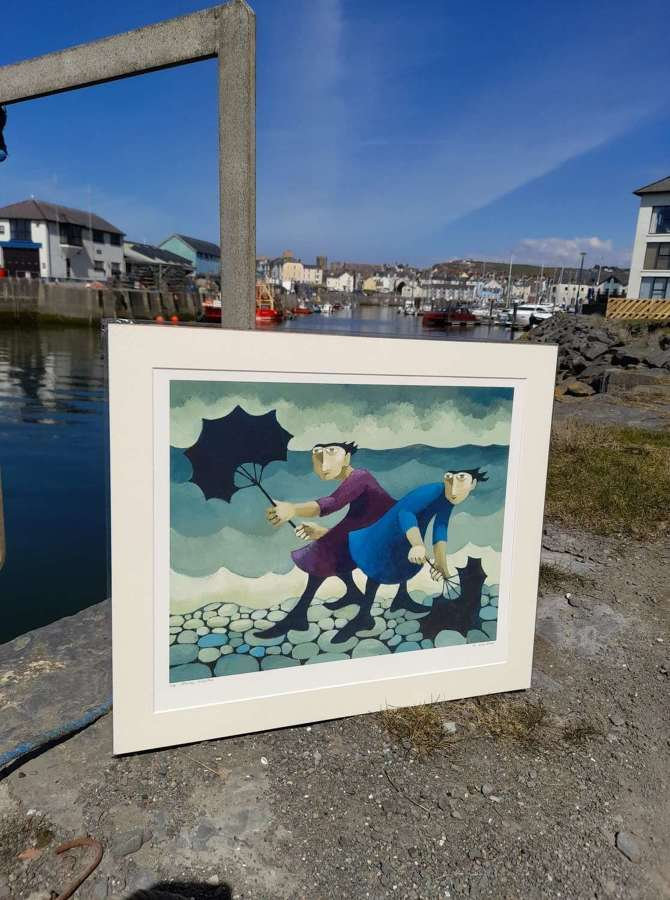 Muriel Delahaye Signed Giclee Print 'Stormy Weather'