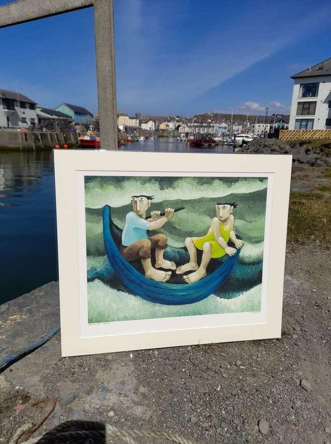 Muriel Delahaye Signed Giclee Print 'Perilous Voyage'