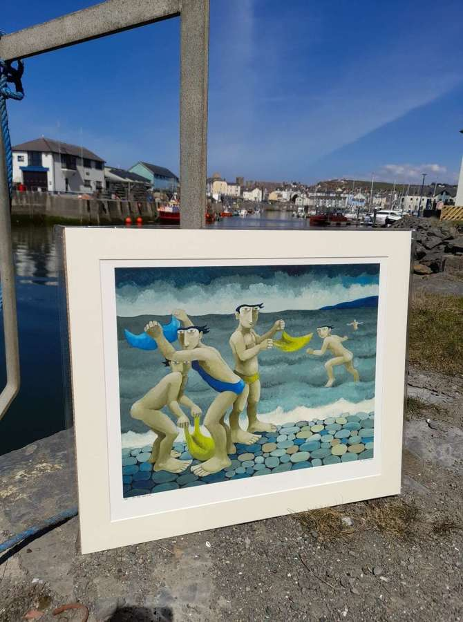 Muriel Delahaye Signed Giclee Print 'At the Seaside'