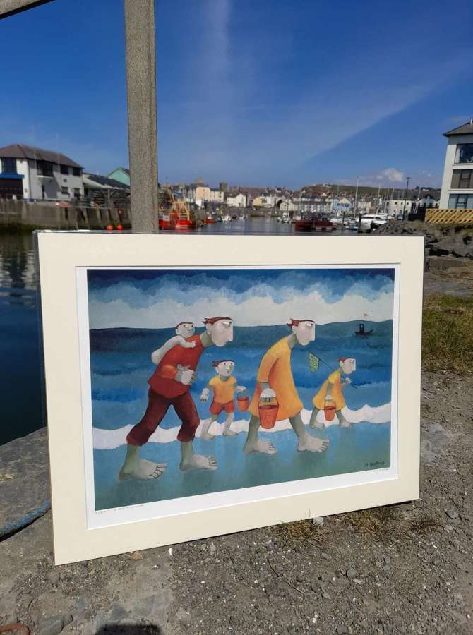 Muriel Delahaye Signed Giclee Print 'A Long Way Home'