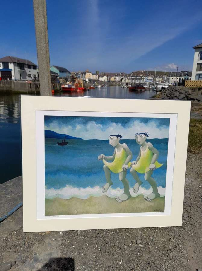 Muriel Delahaye Signed Giclee Print 'Paddlers'