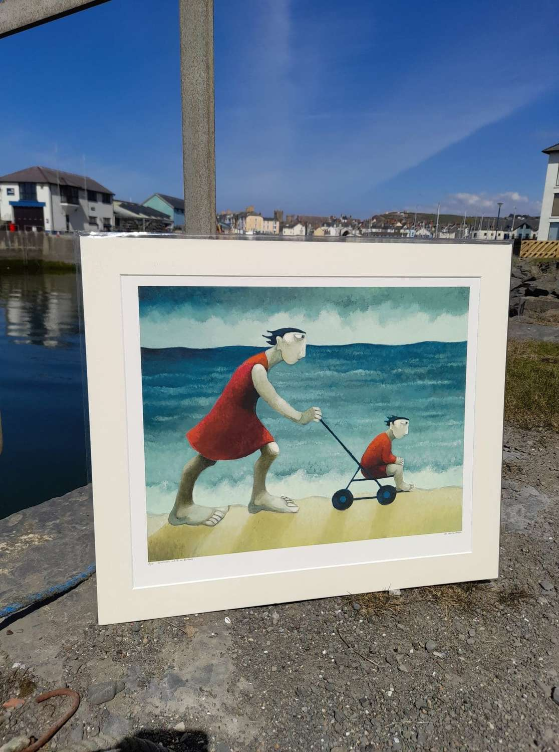 Muriel Delahaye Signed Giclee Print 'Woman With a Pram'