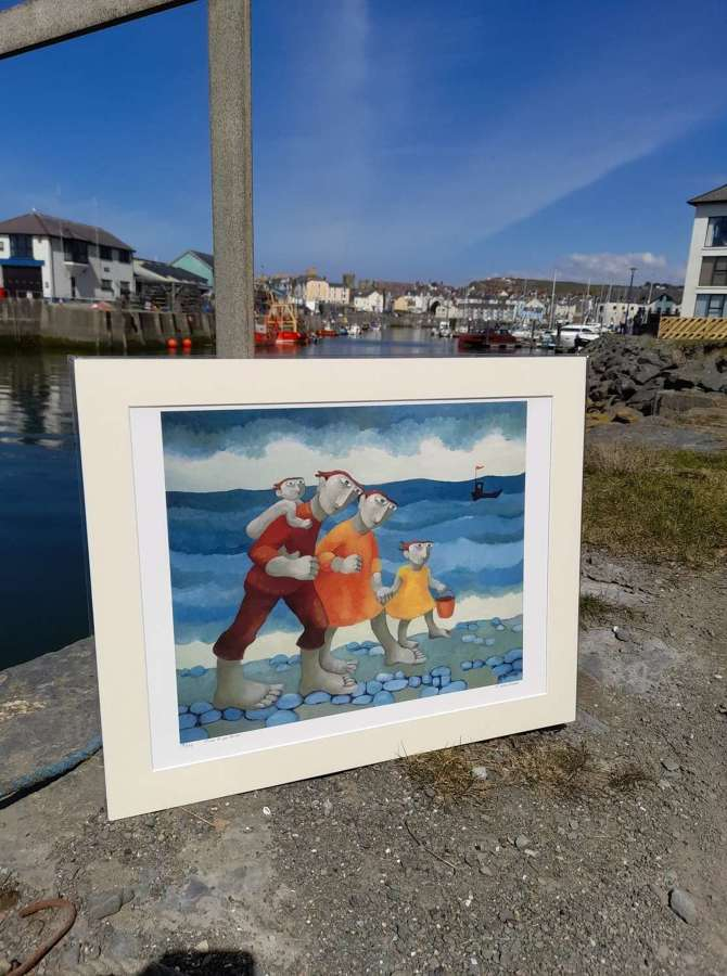 Muriel Delahaye Signed Giclee Print 'Time to go Home'